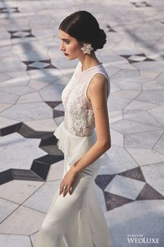Juxtaposed against contemporary interpretations of Arabic architecture, here we showcase some of this season's most statement-making gowns. Pattern and light are explored through mashrabiya, a form of latticework that uses geometric shapes to provide shade, resulting in patterned sunlight where light passes through | Photography By: Heidi Niemala | WedLuxe Magazine | #WedLuxe #wedding #luxury #luxurywedding #weddinginspiration #fashion #bridal
