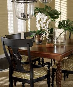 """I don't care what the """"rules"""" are in fashion or decorating- I pretty much love black n brown together! -RLS"""