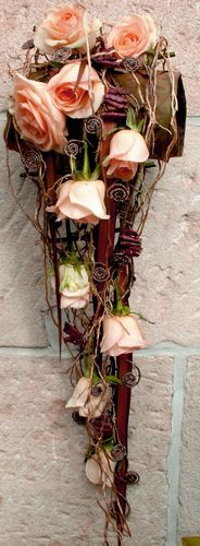 A wonderfully modern take on a traditional cascade bouquet.