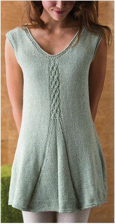 Free Pattern, Free Magazine: Cable & Pleat Tunic - Knitwear Spring 2013 http://issuu.com/iridassss12/docs/knitwear_2013_spring Tumblr