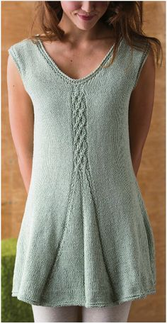 Free Pattern, Free Magazine: Cable & Pleat Tunic - Knitwear Spring 2013 http://issuu.com/iridassss12/docs/knitwear_2013_spring Tumblr