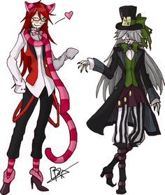 Undertaker and Grell, the OVA from Black Butler.