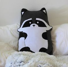Racoon Pillow 23.6 60cm  Made to order