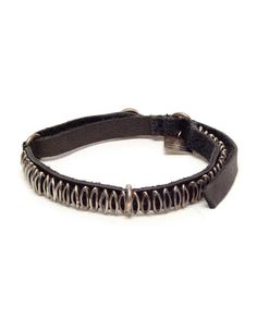 Browns | GOTI | Leather and aged silver bracelet