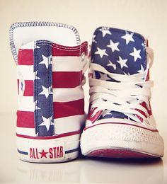 f37657238687 WaNeLo WAnt NEed LOve American Flag Converse