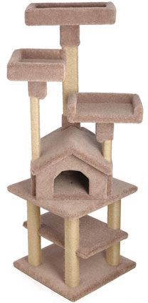 Wooden Kitty Cat Gym Condo with Large Beds on Top #cat #stuff - Find what cat like at - Catsincare.com!