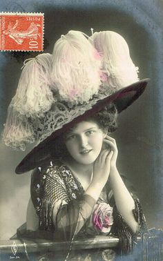 Beautiful Edwardian Fashion Lady with by TheVintageProphecy