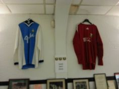 The shirt (we wish) worn by Junior Lewis when he scored the winning goal against Leyton Orient. A goalkeeper shirt (origin unknown).
