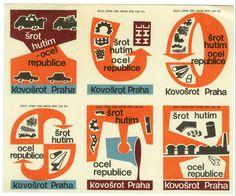 Czech matchbox labels (uncut sheet)