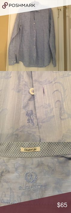 Bugatchi UOMO shaped fit dress shirt Size medium. Excellent condition. Bugatchi Tops Button Down Shirts