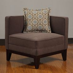 Oooohhh, this would be a nice entryway chair too! Pierce Espresso Corner Chair | Overstock.com
