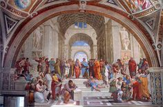 """""""The School of Athens"""" The Signature Room, The Vatican, Rome. (w) Raphael"""