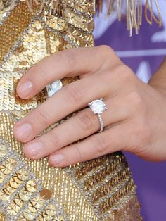 Celebrity Engagement and Wedding Rings - Pictures of Celebrity Engagement Rings - Real Beauty Celebrity Engagement Rings, Rose Gold Engagement Ring, Wedding Engagement, Wedding Bands, Engagement Ideas, Solitaire Engagement, Perfect Wedding, Dream Wedding, Wedding Day