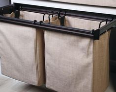 Laundry Hamper/Pant Rack by Hafele With Pull-Out Frame Bedroom Built In Wardrobe, Master Closet, Closet Bedroom, Closet Works, Closet Companies, Laundry Sorting, Pants Rack, Build A Closet, Closet Redo