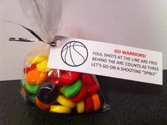 Treat bag for basketball team