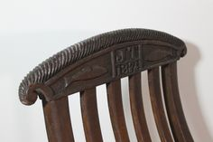 Superb 19th c steamer chair from a yacht with initials and carved crest rail - available at www.robhallantiques.co.uk