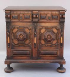 5574. Finely Carved Spanish Revival Cabinet*
