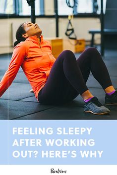 Feeling Sleepy After Working Out? Here's Why #purewow #bodyarmor fitness #nutrition #workout #wellness #fitness #sleep