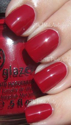 Red polish - China Glaze Adventure Red-y