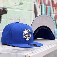 14652421dc3 Chewy by CapEaters - Blue NewEra Fitted w  Grey Undervisor New Era Fitted