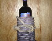 Texas Western Rope Handmade Wine Bottle Holder Cowboy Lasso Ranch Home Decor - MADE IN TEXAS