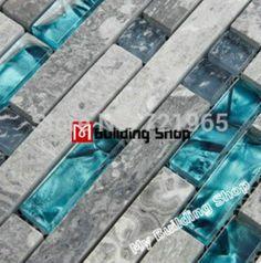Online Shop Blue glass mosaic glass wall tile backsplash kitchen tile SGMT026 grey stone mosaic bathroom tiles glass stone mosaic tiles|Aliexpress Mobile