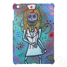 Dia de los Muertos  Nurse II Painting iPad Mini Cases