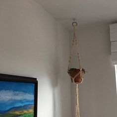 Margeaux Emery added a photo of their purchase Modern Macrame, Modern Boho, Pot Hanger, Wall Hanger, Macrame Plant Holder, Plant Holders, Hygge, Pots, Cotton Plant