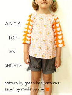 Anya Top and Shorts by Green Bee by madebyrae, via Flickr