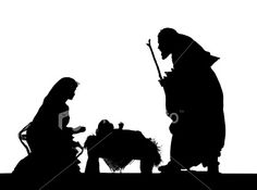Nativity (photographed Silhouette) Royalty Free Stock Photo