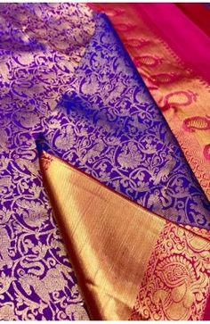 Purple Handloom Kanjeevaram Pure Silk Animal & Bird Design Saree Banarasi Sarees, Silk Sarees, Bird Design, Sarees Online, Pure Silk, Cool Outfits, Pure Products, Animal, Purple