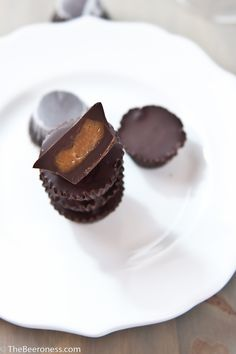 Chocolate Stout Peanut Butter Cups. Three Ingredients, crazy good.    Let's agree to make stuff this year. Because you and I, we like that. We like getting o