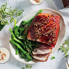 Honey-mustard and pork are a match made in heaven, and our gammon will have your guests begging for seconds. Christmas Lunch, Honey Mustard, Salmon Burgers, Special Occasion, Food Porn, Pork, Heaven, Cooking, Ethnic Recipes