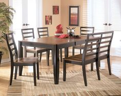 Ashley Alonzo 6 piece dining room set, $789
