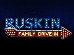 Ruskin Family Drive-In....way to go back in time with the family and enjoy  a movie...