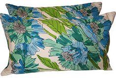 vera silk scarf pillows on okl, lindsay corr