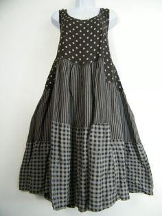 PLUS PLUS SIZE 100% LINEN SPOTTY/STRIPY/CHECK DESIGN LAGENLOOK DRESS SIZE 20-24 in Clothes, Shoes & Accessories, Women's Clothing, Dresses | eBay!
