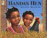Handa's Hen by Eileen Browne, illustrated by Eileen Browne, In the sequel to the modern classic, Handa's Surprise, two girls count all of the exotic and exciting animals they discover as they search for their grandma's hen. Handas Surprise, Story Sack, Afrique Art, African Culture, Story Time, Paperback Books, Book Lists, Teaching Resources, Teaching Ideas