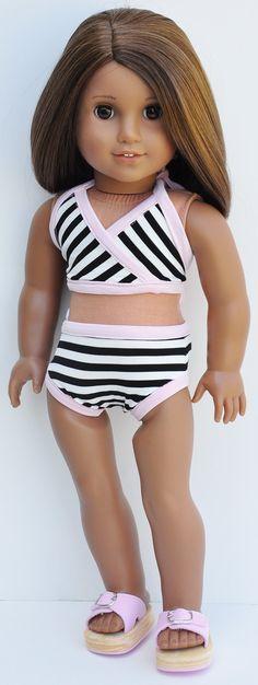American Girl Bathing Suit   Triangle Top by LoriLizGirlsandDolls, $28.00