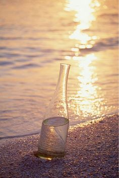 sun setting into the bottle