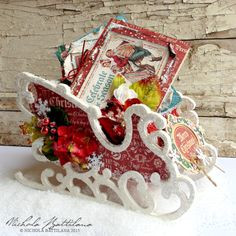 Pixie Hill: Wintry Sleigh and Card with Petaloo and Graphic 45...