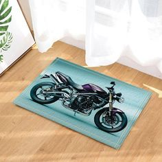 Adventurous Mat Motorcycle Decor Bath Rugs    https://wearethebikerstore.com/collections/carpets/products/adventurous-mat-motorcycle-decor-bath-rugs