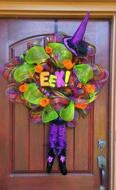 Halloween Wreath Witch Wreath