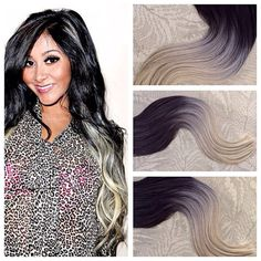 5 Star Ombre Cuticle Remy Human Hair Keratin Fusion Tape-in Seamless weft Hair Extensions 40pcs
