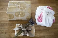 you are my fave: stamped gift wrap from humunuku shoppe