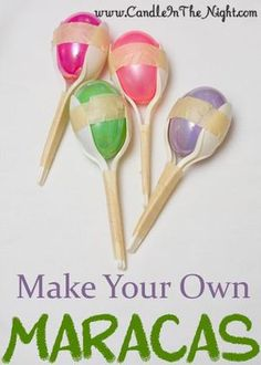 Lots of easy craft ideas for kids here. Make your own maracas today!  They're so easy!