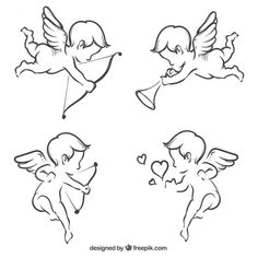 set-of-cupid-sketches-free-vector-by-freepik - https://www.templatemonster.com/blog/st-valentine-day-web-design-freebies-2017/