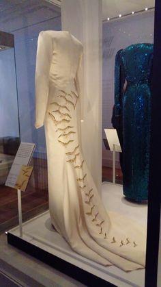 Diana, The Falcon dress on display at Kensington Palace