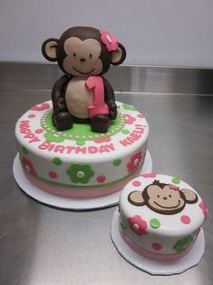 ele makes cakes :] — Mod Monkey Girl 1st Birthday!