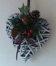Christmas Wicker Heart.